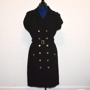 Calvin Klein Lightweight Trench Coat Black Size 12